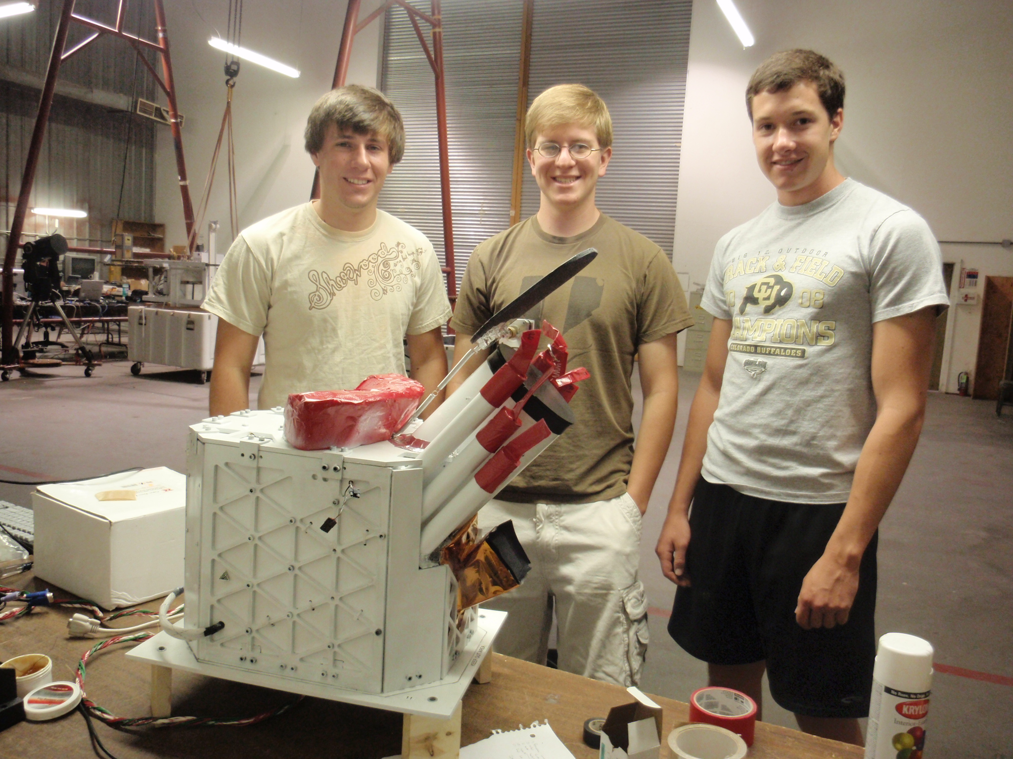 HASP Team Members Kevin, Nick, and Andrew with a finished payload