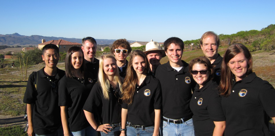 Student team at the DANDE Launch at VAFB