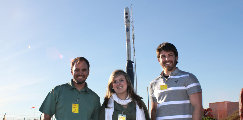 Students prior to the ELaNa I launch of Hermes 1U CubeSat